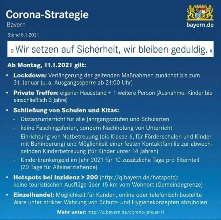 Corona Strategie Bayern