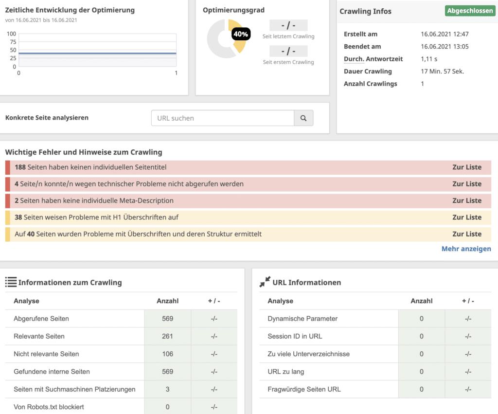 Seobility OnPage Optimierungen